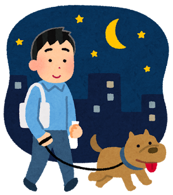 pet_dog_sanpo_yoru_man.png